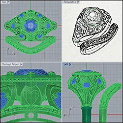 3D jewelry CAD example
